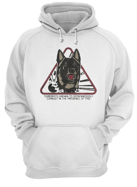 Fur warning terrorists know to spontaneously combust in the presence of this Dog  Unisex Hoodie