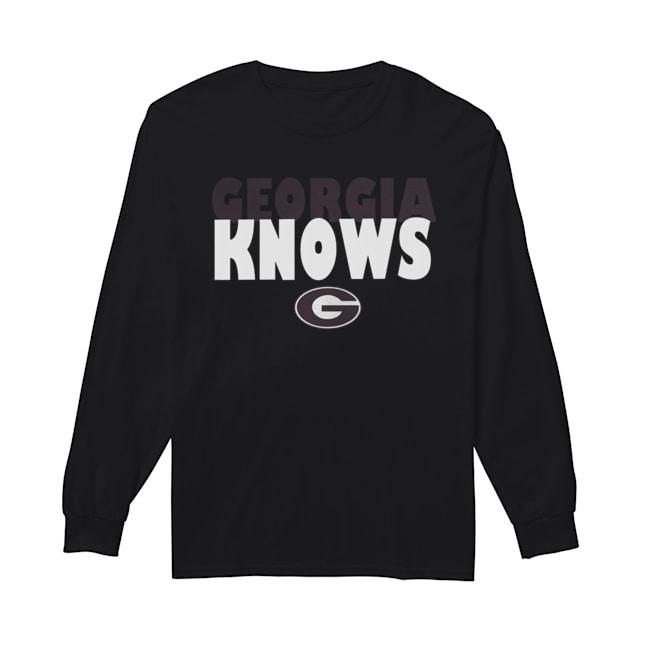 Georgia Bulldogs football Knows  Long Sleeved T-shirt