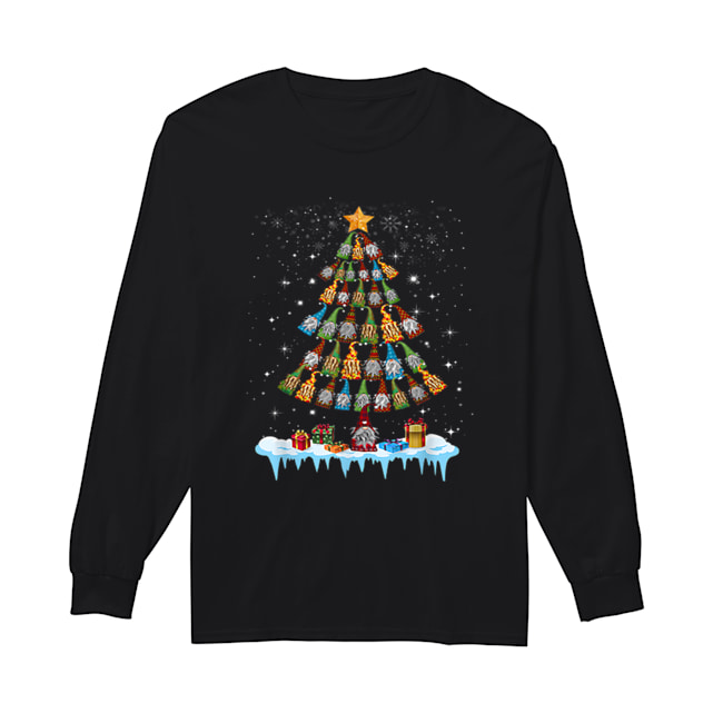 Gnome Garden Gardening Christmas Tree  Long Sleeved T-shirt