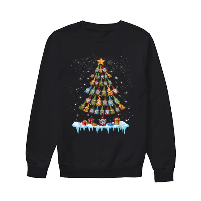 Gnome Garden Gardening Christmas Tree  Unisex Sweatshirt