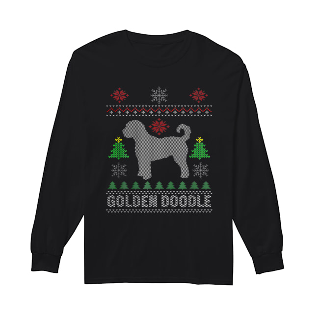 Golden Doodle Dog Funny Ugly Christmas  Long Sleeved T-shirt