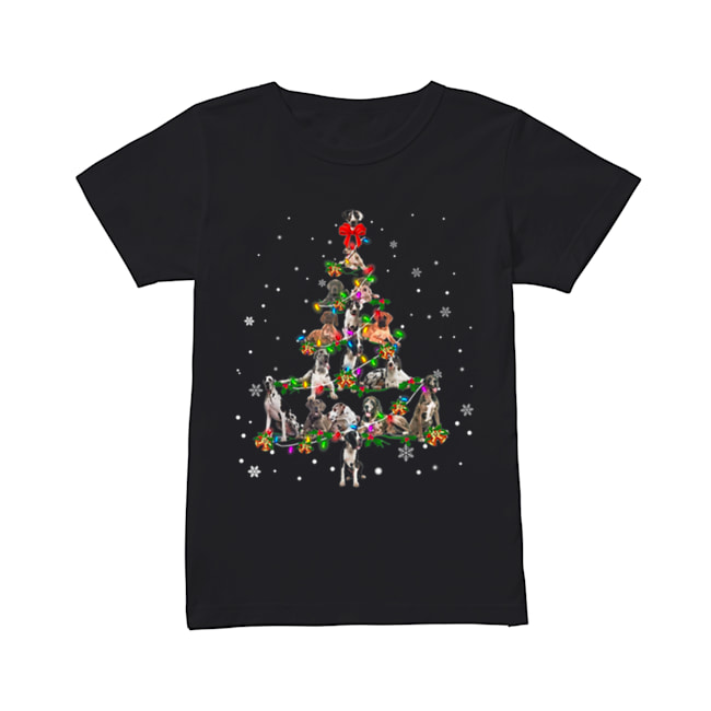 Great Dane dog Christmas Tree gift decor Xmas tree  Classic Women's T-shirt