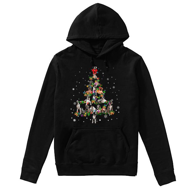 Great Dane dog Christmas Tree gift decor Xmas tree  Unisex Hoodie