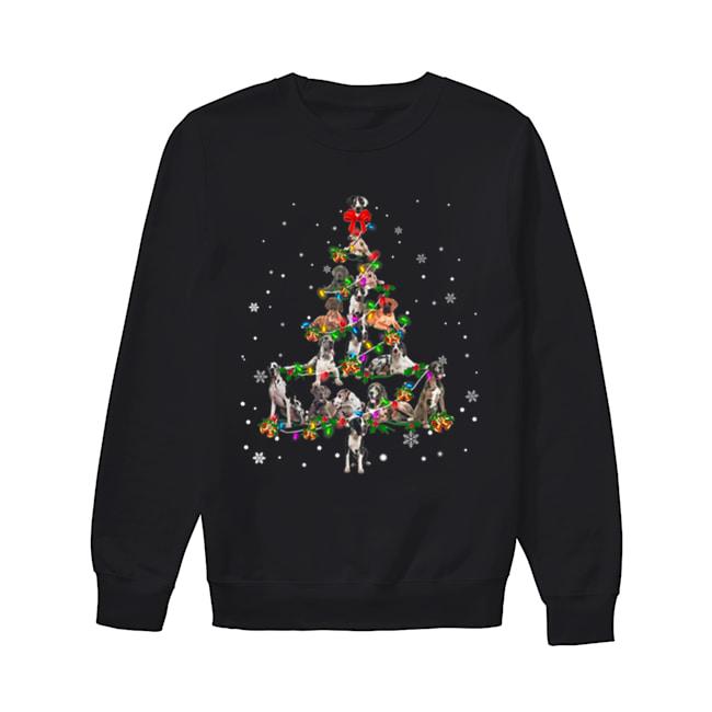 Great Dane dog Christmas Tree gift decor Xmas tree  Unisex Sweatshirt