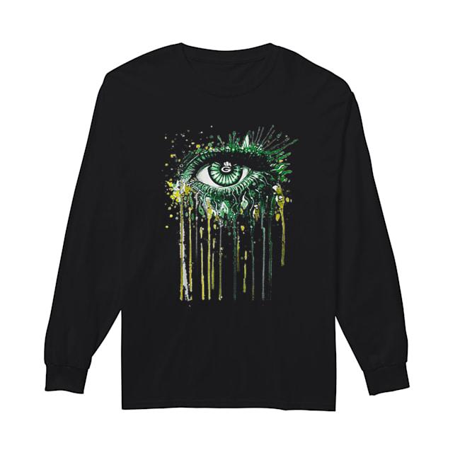 Green Bay Packers eyes art  Long Sleeved T-shirt