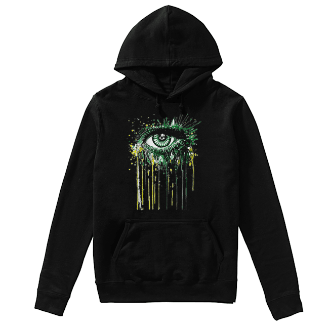 Green Bay Packers eyes art  Unisex Hoodie