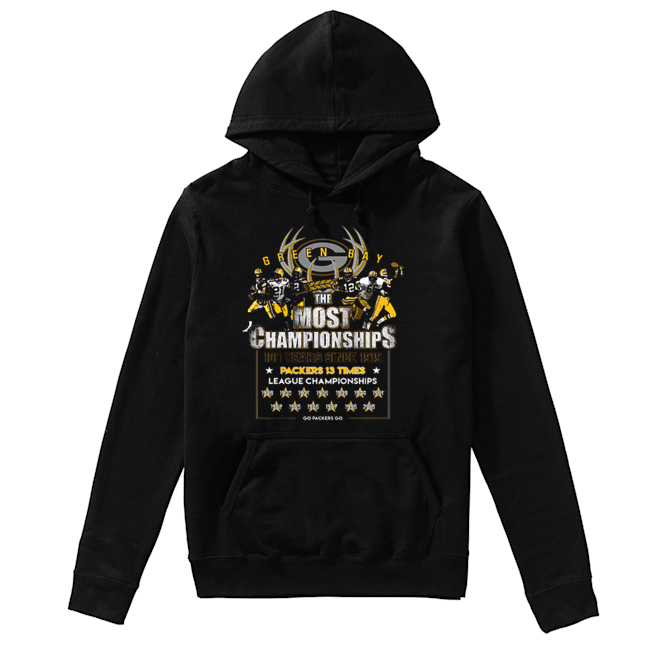 Green Bay Packers the most championships 100 years since 1919  Unisex Hoodie