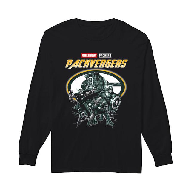 Greenbay Packers Packvengers Avengers Marvel  Long Sleeved T-shirt