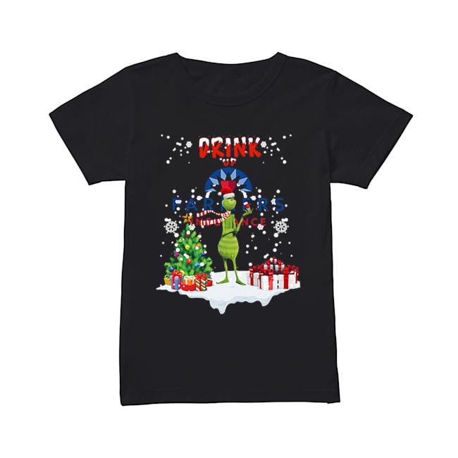 Grinch Drink up Farmers Insurance Christmas  Classic Women's T-shirt