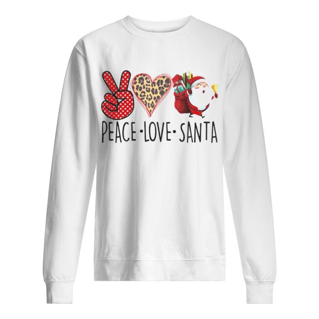 Hippie Peace Love Santa Claus Christmas  Unisex Sweatshirt