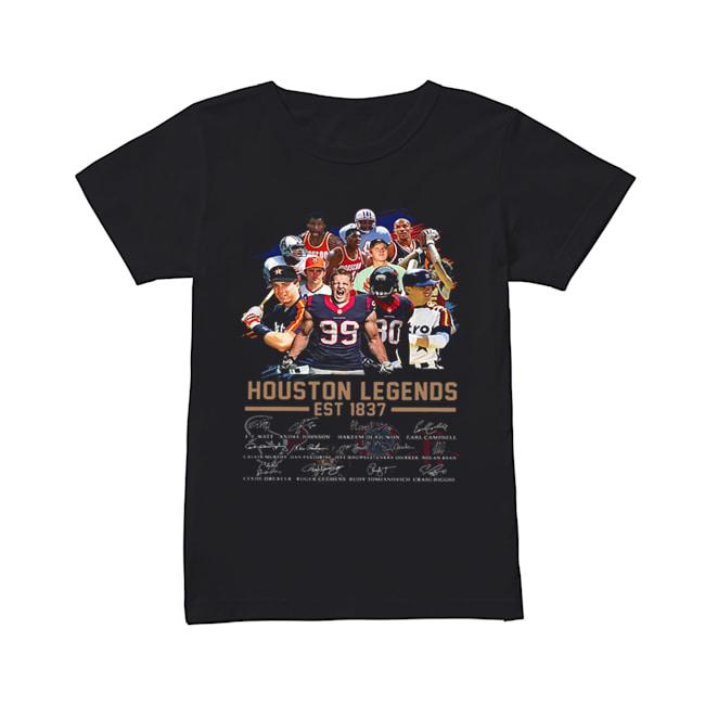 Houston Legends Est 1837 Signatures  Classic Women's T-shirt