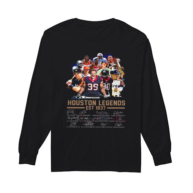 Houston Legends Est 1837 Signatures  Long Sleeved T-shirt
