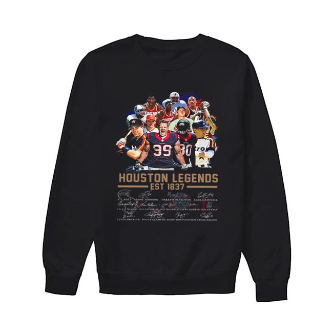 Houston Legends Est 1837 Signatures  Unisex Sweatshirt