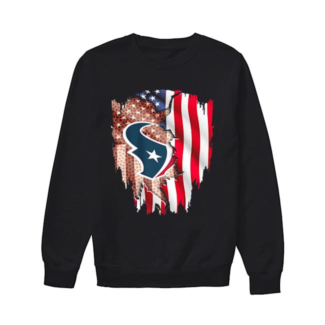 Houston Texans American flag  Unisex Sweatshirt