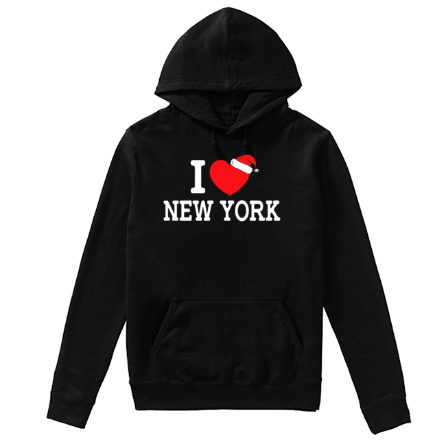 I Heart New York Christmas Santa Hat New York Strong Love shirt, hoodie, sweatshirt and long sleeve