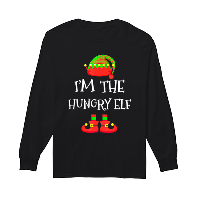 I'M THE Hungry ELF Christmas Xmas Funny Elf Group Costume  Long Sleeved T-shirt