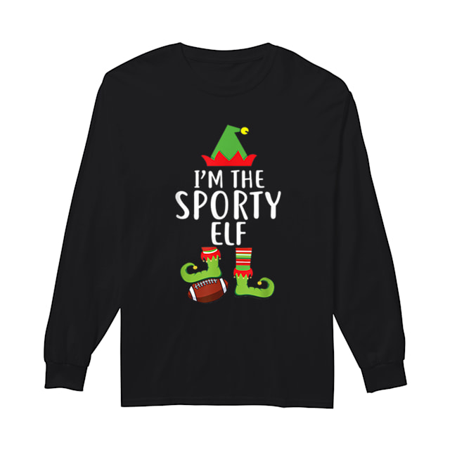 I'm The Sporty Rugby Elf Matching Family Christmas  Long Sleeved T-shirt