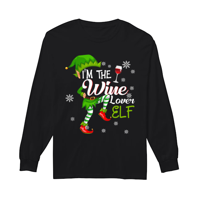 I'm The Wine Lover Elf Matching Family Christmas  Long Sleeved T-shirt