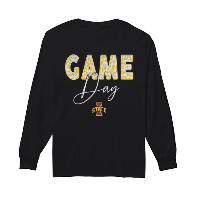 Iowa State Cyclones Game Day Leopard Team  Long Sleeved T-shirt