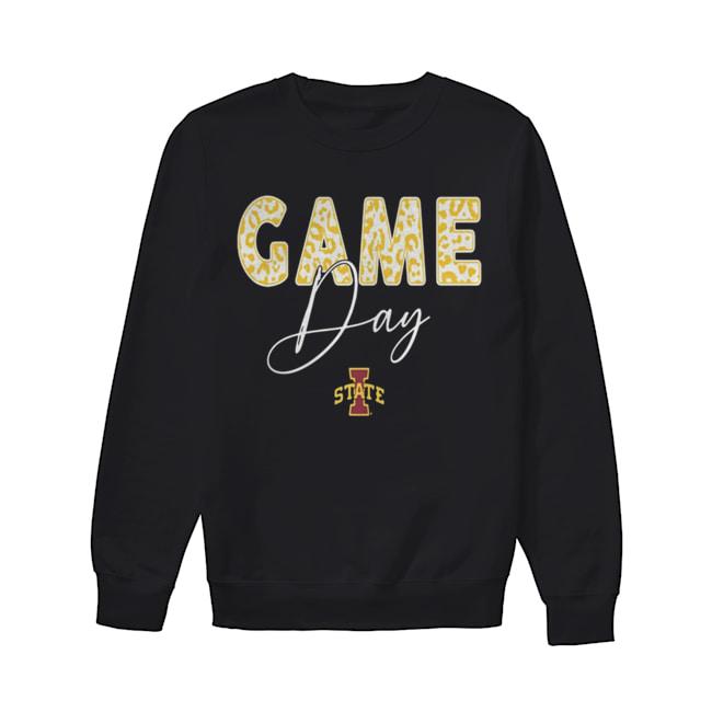 Iowa State Cyclones Game Day Leopard Team  Unisex Sweatshirt