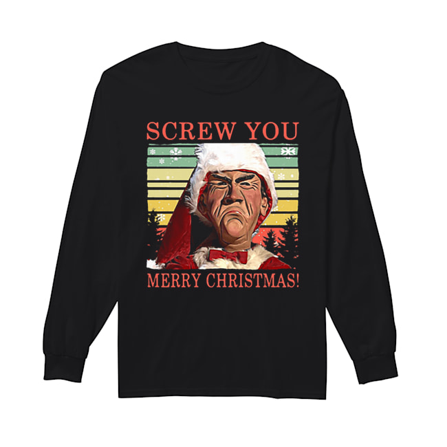 Jeff Dunham Screw You Merry Christmas  Long Sleeved T-shirt