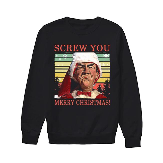 Jeff Dunham Screw You Merry Christmas  Unisex Sweatshirt
