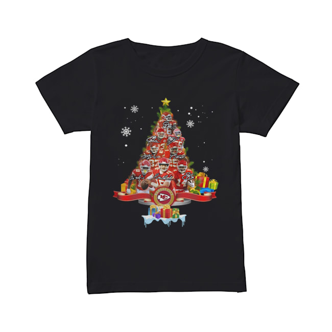 Kansas City Chiefs Players Signatures Christmas Tree  Classic Women's T-shirt