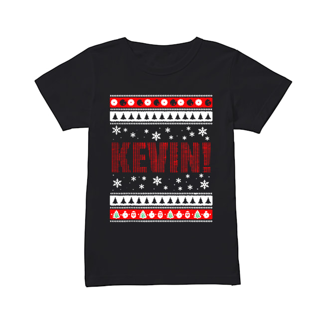KEVIN Fun X-Mas Holiday Gift for Movie Lovers Ugly Christmas  Classic Women's T-shirt