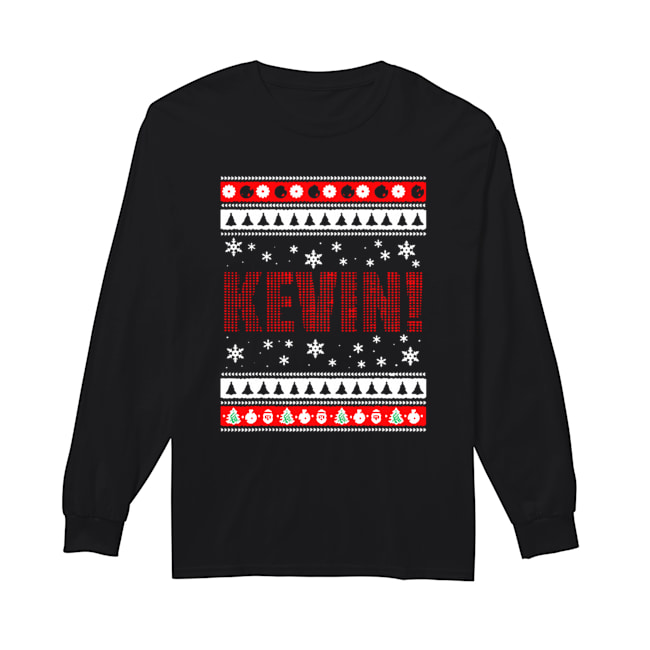 KEVIN Fun X-Mas Holiday Gift for Movie Lovers Ugly Christmas  Long Sleeved T-shirt