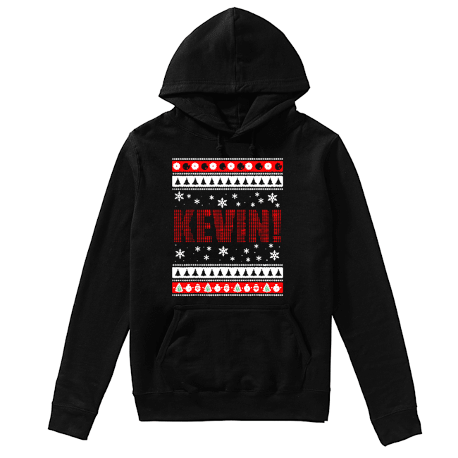 KEVIN Fun X-Mas Holiday Gift for Movie Lovers Ugly Christmas  Unisex Hoodie