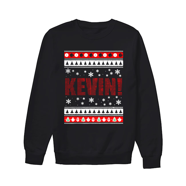 KEVIN Fun X-Mas Holiday Gift for Movie Lovers Ugly Christmas  Unisex Sweatshirt