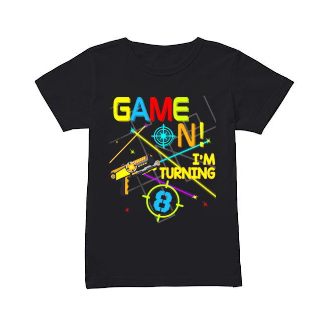Laser Tag Birthday Party Game On Im Turning 8  Classic Women's T-shirt