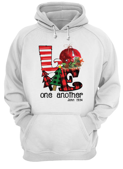 Love one another John 13'34 Christmas  Unisex Hoodie