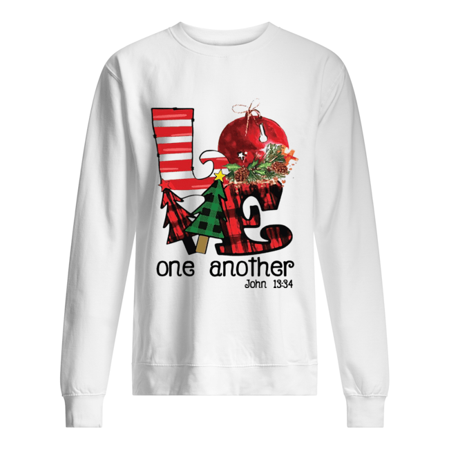 Love one another John 13'34 Christmas  Unisex Sweatshirt