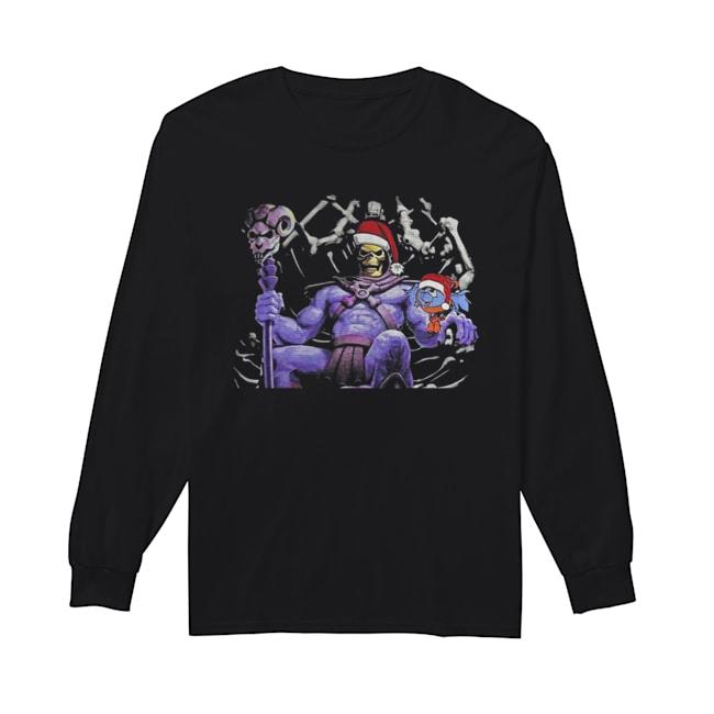 Master Of The Universe Skeletor knitting pattern 3D print ugly Christmas  Long Sleeved T-shirt