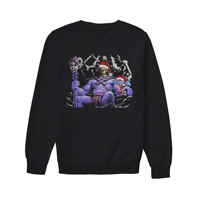 Master Of The Universe Skeletor knitting pattern 3D print ugly Christmas  Unisex Sweatshirt