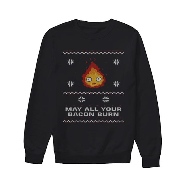 May all your bacon burn Christmas  Unisex Sweatshirt