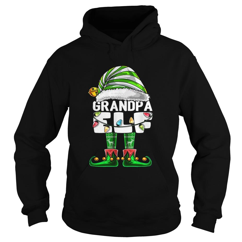 Mens Grandpa Elf Matching Family Christmas Elf Costume Gift Men  Hoodie