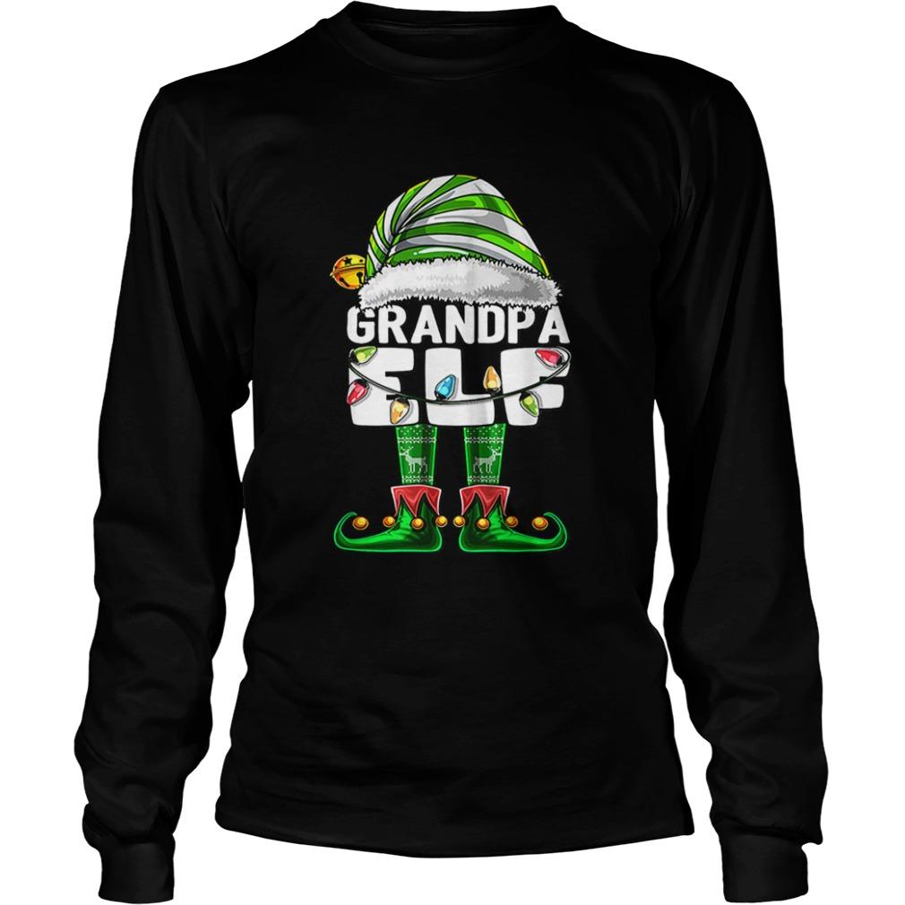 Mens Grandpa Elf Matching Family Christmas Elf Costume Gift Men  LongSleeve