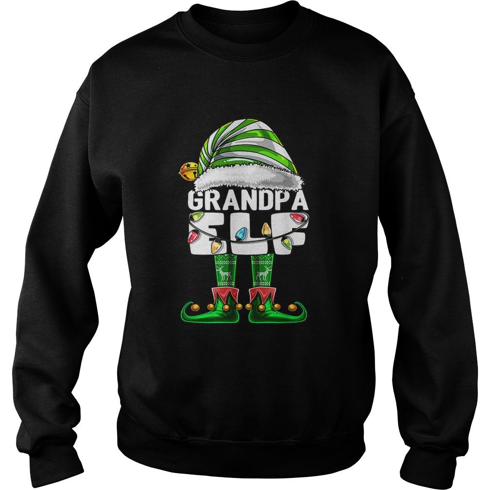 Mens Grandpa Elf Matching Family Christmas Elf Costume Gift Men  Sweatshirt