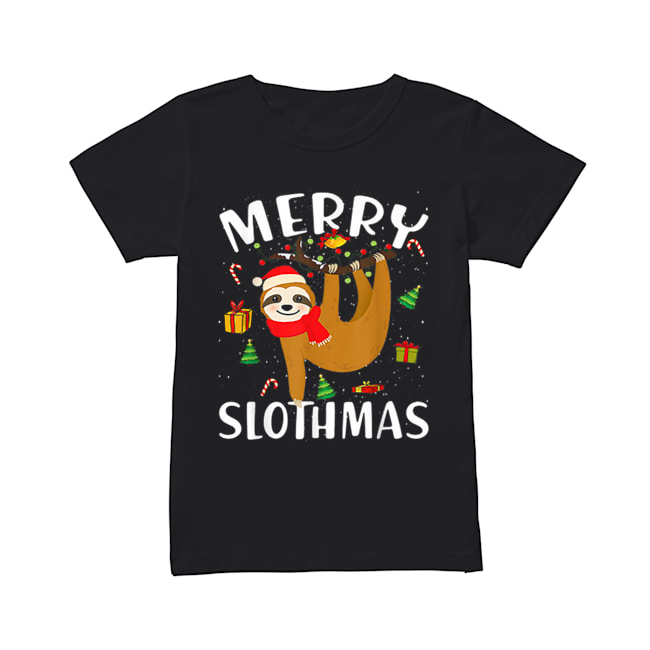 Merry Slothmas Christmas Pajama for Sloth Lovers  Classic Women's T-shirt