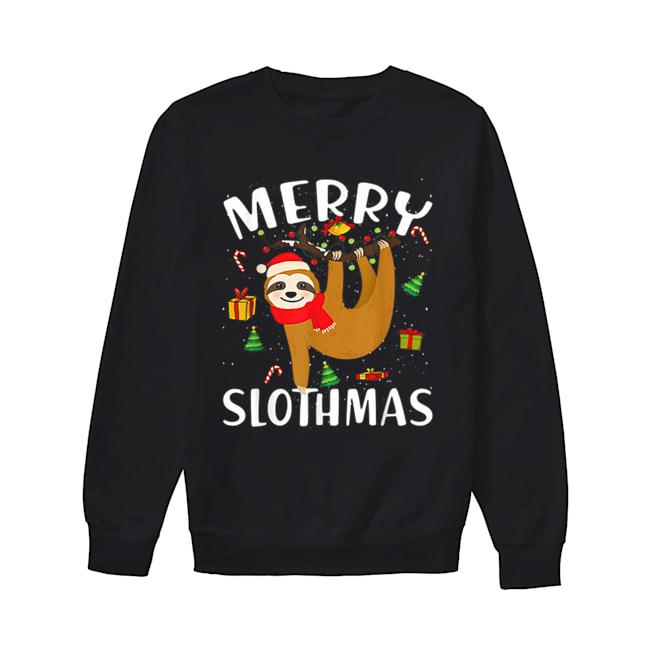 Merry Slothmas Christmas Pajama for Sloth Lovers  Unisex Sweatshirt