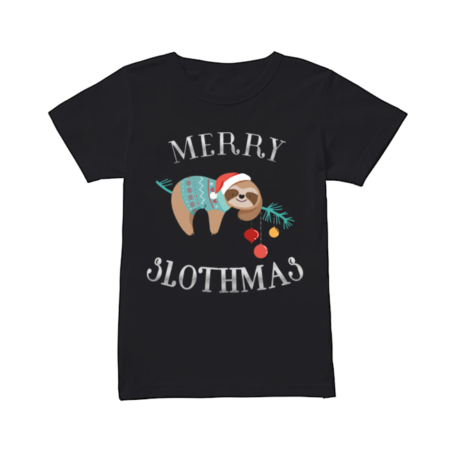 Merry Slothmas Funny Christmas for Sloth Lovers  Classic Women's T-shirt