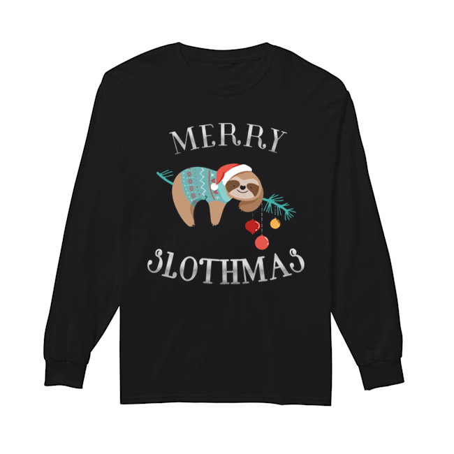 Merry Slothmas Funny Christmas for Sloth Lovers  Long Sleeved T-shirt