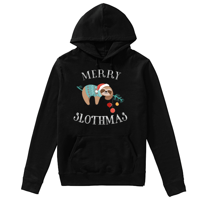 Merry Slothmas Funny Christmas for Sloth Lovers  Unisex Hoodie