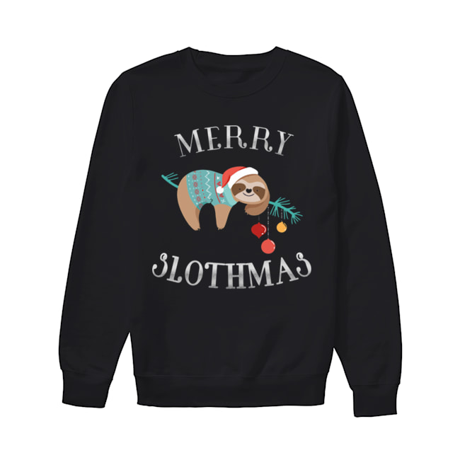 Merry Slothmas Funny Christmas for Sloth Lovers  Unisex Sweatshirt