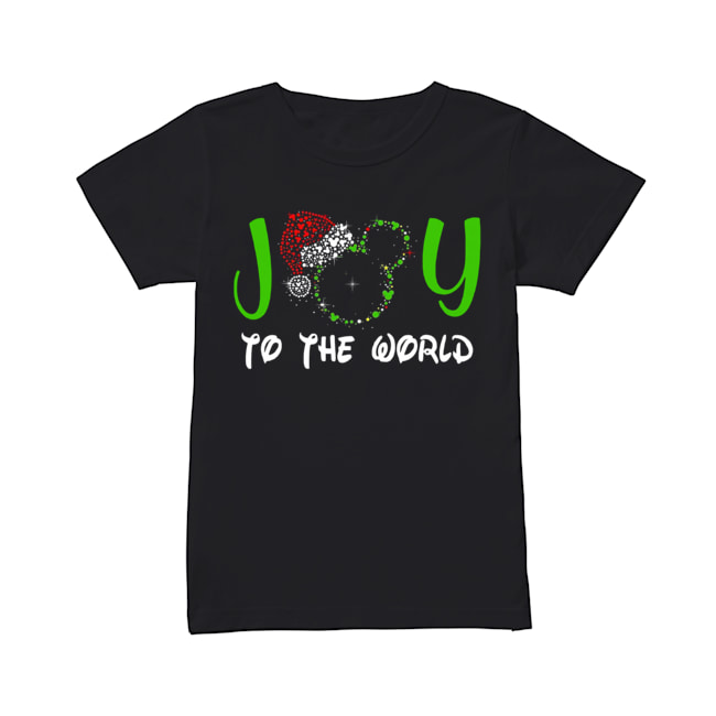 Mickey Mouse Disney joy to the world ugly christmas  Classic Women's T-shirt