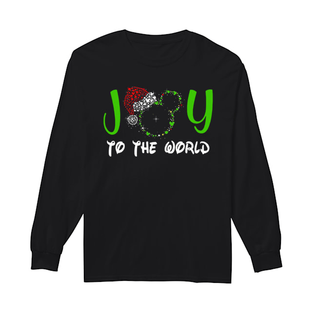 Mickey Mouse Disney joy to the world ugly christmas  Long Sleeved T-shirt