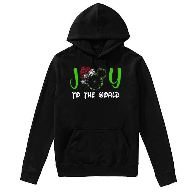 Mickey Mouse Disney joy to the world ugly christmas  Unisex Hoodie
