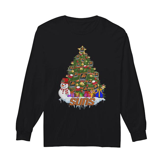 NBA Phoenix Suns Basketball Christmas Tree  Long Sleeved T-shirt